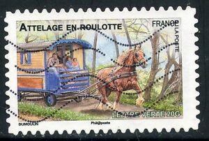 TIMBRE-FRANCE-AUTOADHESIF-OBLITERE-N-820-FAUNE-CHEVAUX-DE-TRAIT-DE-NOS-REGION