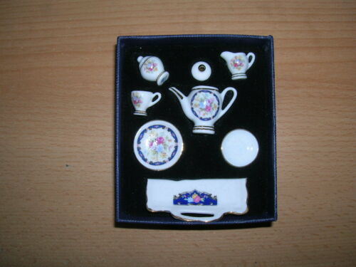 1.336//1 Reutter porzellan plateau service à thé royal blue poupée 1:12 Art