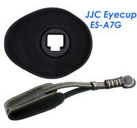 Jjc Es-a7g Oval Ergo Eyecup +genuine Leather Wrist Strap Sony Α7ii Α7s Ii Α7r Ii