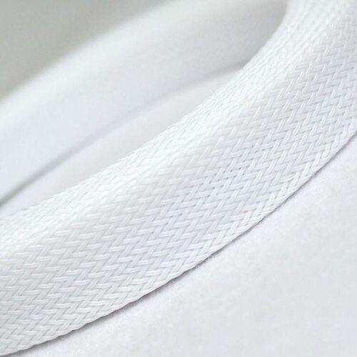 3mm-30mm Blanc Câble Tressé Gaine//Revêtement Pet Auto Wire Manche Harnessing