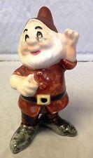"Vintage 7 Dwarfs Porcelain Figurine Doc ""Walt Disney Prod."" Stamp~MINT Condition"