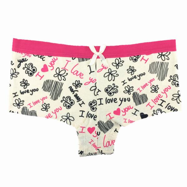 6er Pack Damen Sexy Panty Baumwolle Boxershorts Schlüpfer Unterhose Unterwäsche