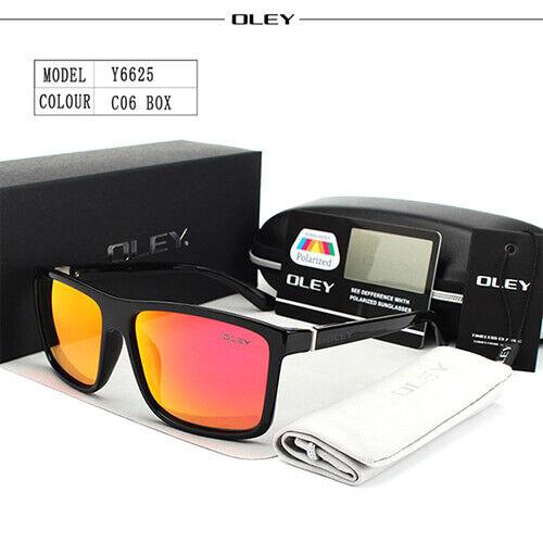 OLEY HD Polarized Sunglasses Luxury Men Fashion UV400 Square Sun Glasses Eyewear