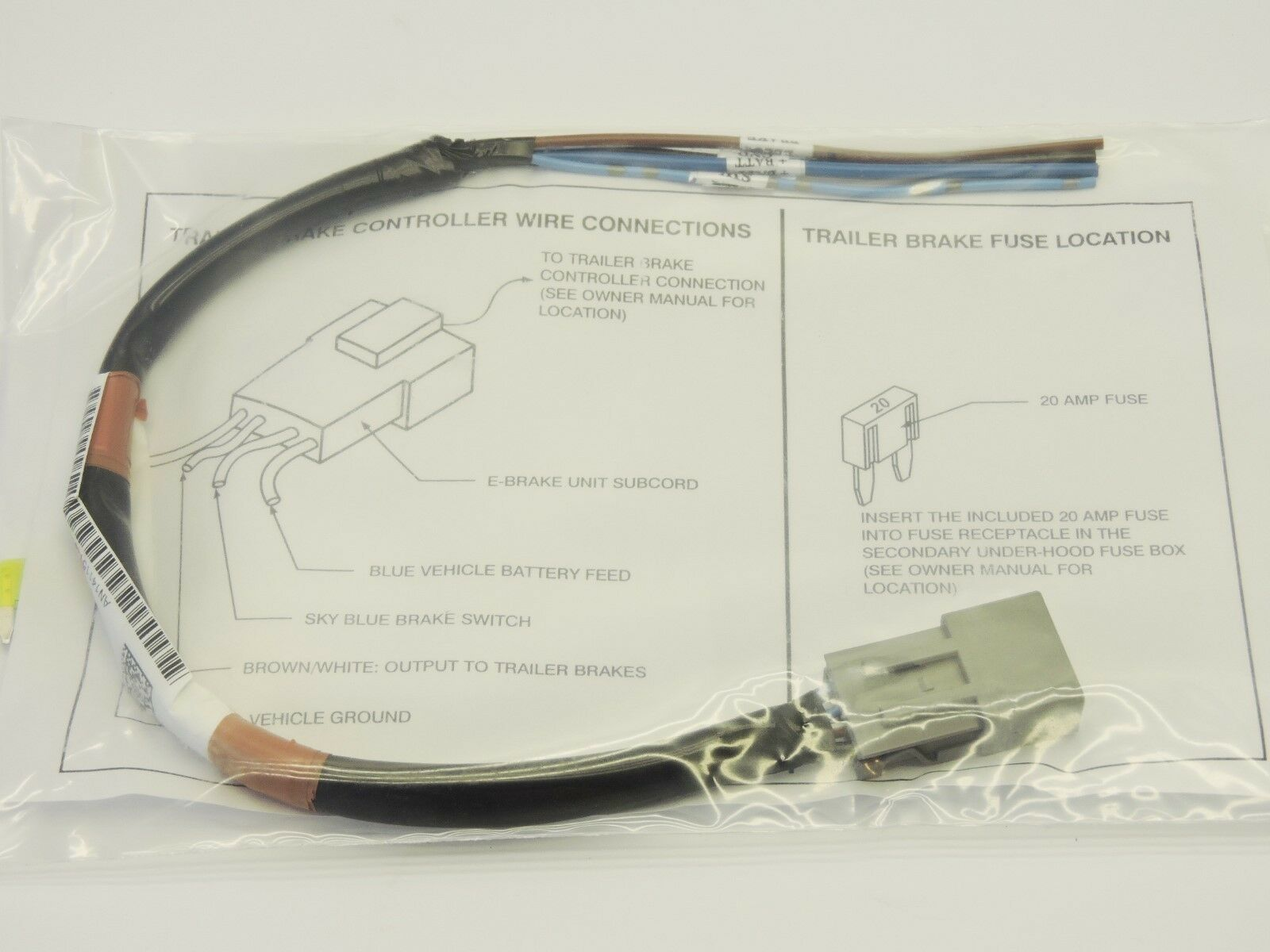 Honda Pilot Trailer Brake Controller Wire Connections 32111 Sza A002 Hayes Wiring Diagram A001 01 Ebay