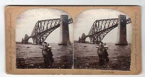 WOMAN-ON-PIER-FORTH-RAILWAY-BRIDGE-Stereoscopic-photograph-C28637