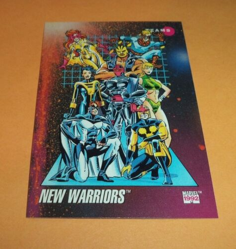 New Warriors  # 174-1992 Marvel Universe Series 3 Base Impel Trading Card