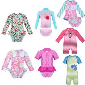Toddler-Baby-Girl-Swimsuit-UPF-50-Rash-Guard-Kid-Swimwear-Bathing-Swimming-Suit