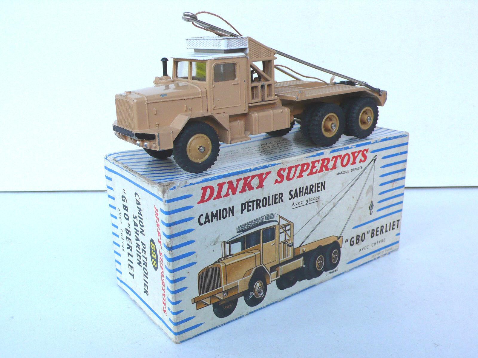 DINKY súperTOYS  CAMION  GBO  BERLIET  SAHARIEN   REF 888  1960  BOITE D'ORIGINE