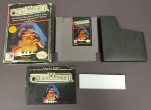The-Chessmaster-NES-Nintendo-Game-Original-BOX-Complete-CIB-Manual-Dust-Cover