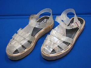 bb51b95ba4d7f 8.5 M Circus Sam Edelman Jelly Clear Glitter Sandals Shoes Womens ...