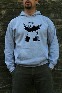 BANKSY PANDA WITH GUN UNISEX SWEATSHIRTS JUMPERS