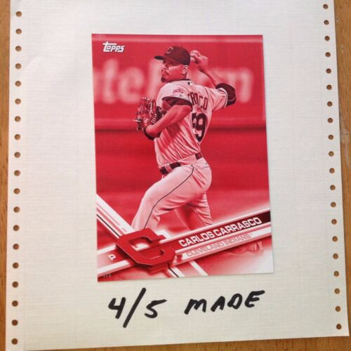 CARLOS CARRASCO #CLE16 Clev Indians 45 Made 2017 Topps 5X7 Jumbo Red Version