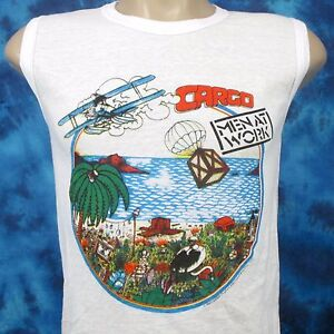 NOS-vintage-1983-MEN-AT-WORK-CARGO-TOUR-MUSCLE-T-Shirt-XXS-rock-concert-thin-80s