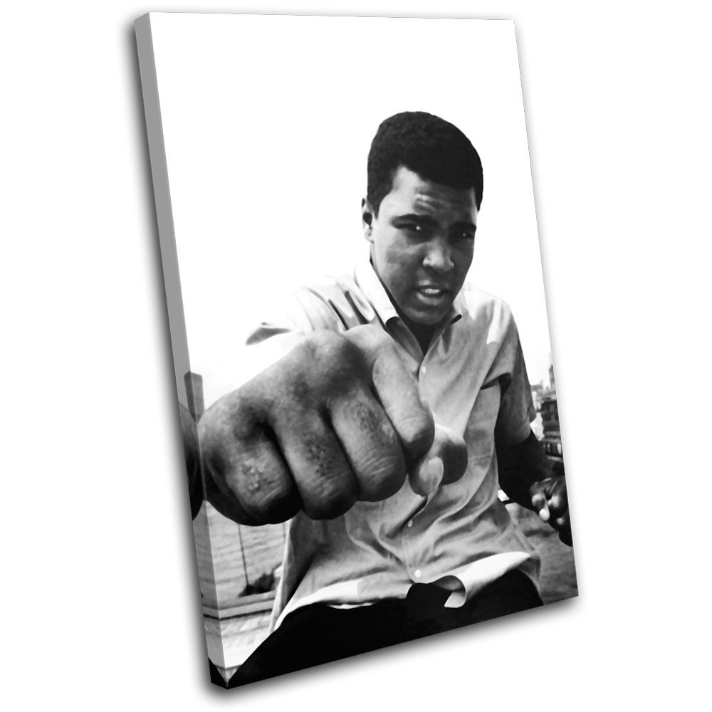 Boxing Muhammad Ali  Sports SINGLE TOILE murale ART Photo Print