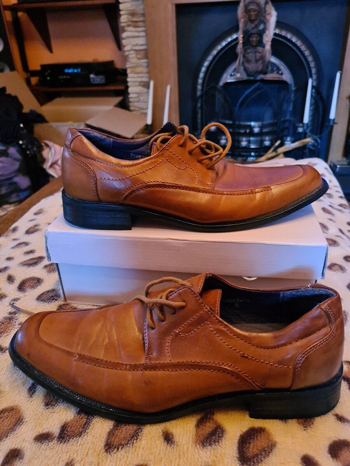 Clarks Brown Leather Mens Shoes Size UK 6 Very Good Condition