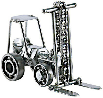Forklift Hand Crafted Recycled Metal Art Sculpture Figurine