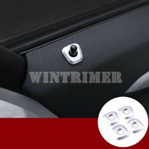 For BMW X5 E70 2008-2013 Steel Interior Door Lock Pin Pins Cover Trim 4pcs
