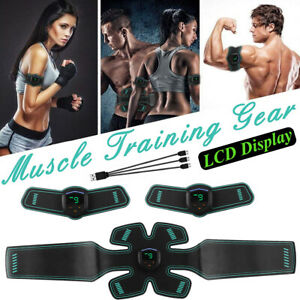 EMS-LCD-USB-Rechargeable-Muscle-Training-Gear-Abdomen-Body-Exercise-Stimulater