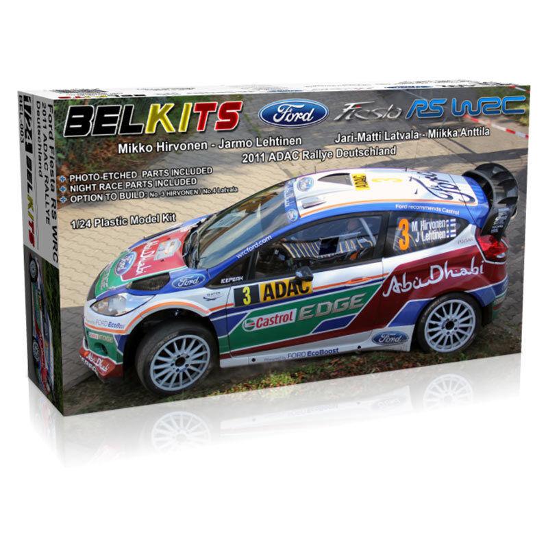 BELKITS Ford Fiesta RS WRC Rally Car Model Kit 1 24 BEL003