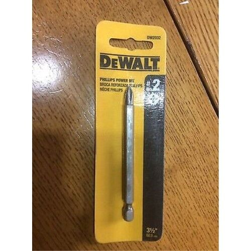 Dewalt DW2032 3-1//2 #2 Phillips Power Bits