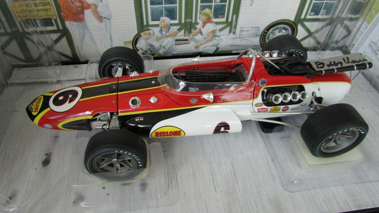 prezzo all'ingrosso 1 1 1 18 autoousel 1 Bobby Unser Firmato Gara Auto 1967 Aar Gurney Eagle Indy 500  Ultimo 2018