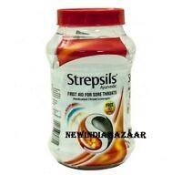 100pcs Strepsils Jar Warm (ginger,clove & Honey) Mix Lozenges Sore Throat Relief