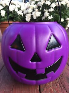 General-Foam-Halloween-Blow-Mold-Purple-Pumpkin-Candy-Pail-Jack-O-Lantern-Gift