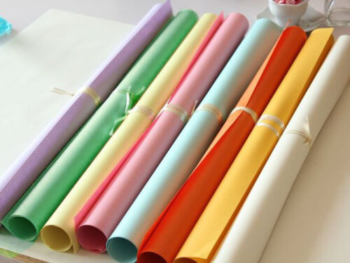 9-sheets Rainbow Color Holiday Wrapping Paper Roll Gift Wrapping Paper