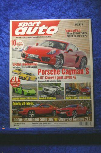 Sport Auto 3//13 Dodge Challanger SRT 392 Chevrolet Camaro ZL1 C63 AMG BMW 650i
