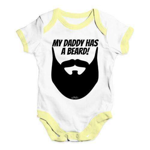 Twisted envy mon papa a une barbe bébé unisexe drôle bébé grandir body