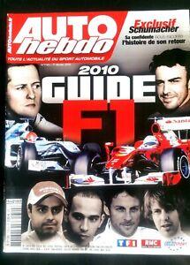 Auto Hebdo Du 17/02/2010; Guide Formule 1/ Confidence Schumacher, Le Retour Limpide à Vue