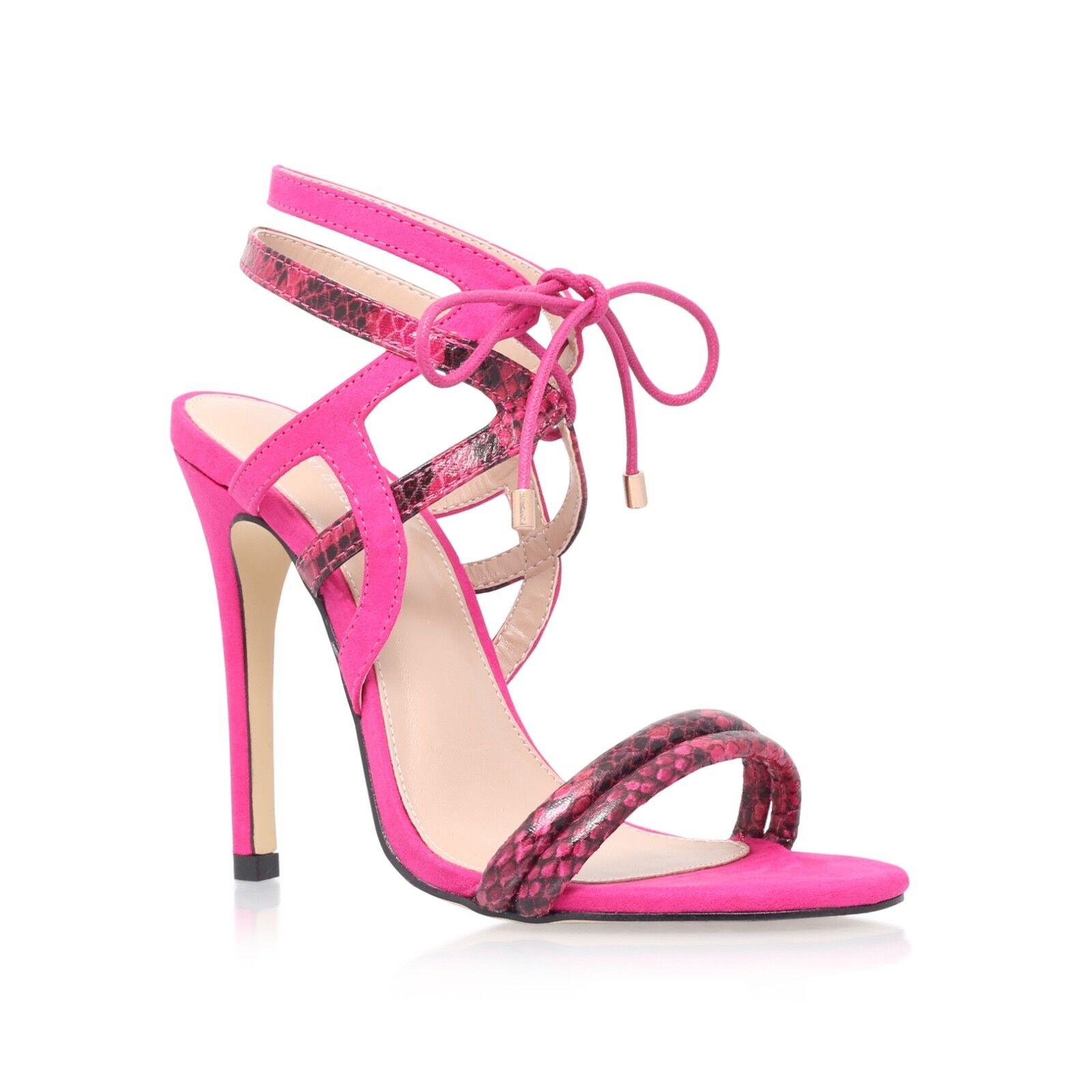 Kurt Geiger Carvela Carvela Carvela Rosa Strappy Sandals Größe 7 EU 40 New Party schuhe 72324a
