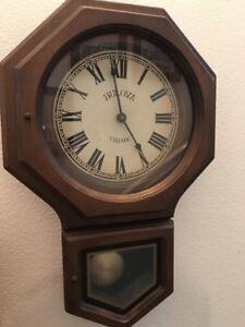 Bulova Schoolhouse Regulator Wall Clock eBay