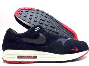 Authentic Nike Air Max 1 Premium Black Oil Red, Men's