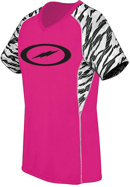 Storm Women's 2Furious Performance Crew Jersey Bowling Shirt Dri-Fit Pink