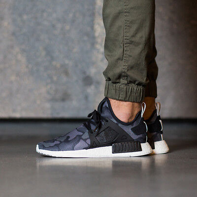 Mens Adidas Nmd Xr1 Runner Sneakers New Black Camo Ba7231 New In