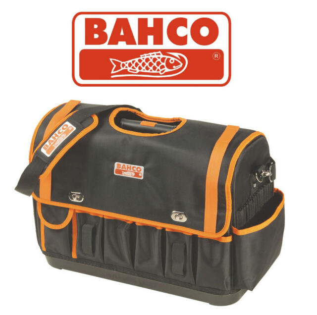 BAHCO 4750FB1-19B Hard Base 47cm Open Tote Multi Pocket Storage Tool Bag COVER