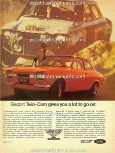 1971 FORD AUSTRALIA ESCORT MK1 TWIN CAM A3 POSTER AD SALES BROCHURE ADVERT