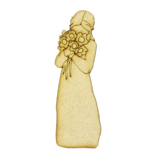 20cm tall Card Craft Decoration Daisy Flower Girl Laser Cut from 3mm MDF 10 15