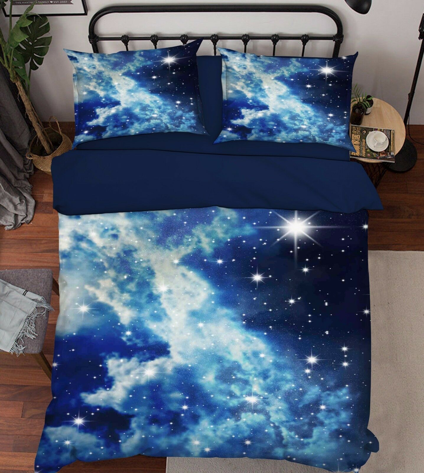 3D Sky Stars 202 Bed Pillowcases Quilt Duvet Cover Set Single Queen King Dimensione AU
