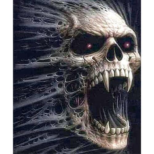 5D DIY Full Drill Diamond Painting Skull Cross Stitch Embroidery Mosaic Kit #SF