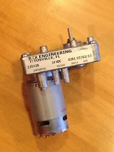 Rex Engineering 24 Vdc Gear Motor Spec 4281 Brand New Ebay