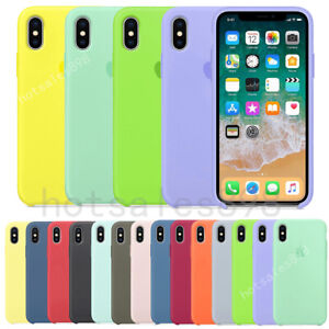 Genuine-Original-Silicone-Case-Cover-For-Apple-iPhone-X-XR-XS-Max-6-6S-7-8-Plus