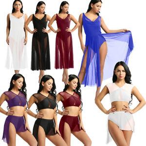 Womens-Ladies-Lyrical-Dress-Contemporary-Ballet-Dance-Gymnastics-Leotard-Unitard