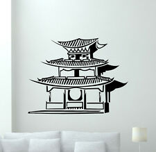 Japanese Temple Wall Decal Chinese Pagoda House Vinyl Sticker Decor Mural 297xxx