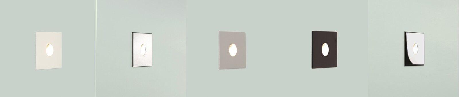 Astro Tango Exterior Led Luz De Parojo De Acero Inoxidable blancoo Pintado Plata Negro