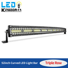 52 Inch 1250w Curved Led Light Bar Tri Row Driving Off Road Combo 4x4wd Fog Lamp