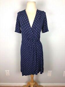 Lilly-Pulitzer-Blue-Wrap-Dress-Size-S
