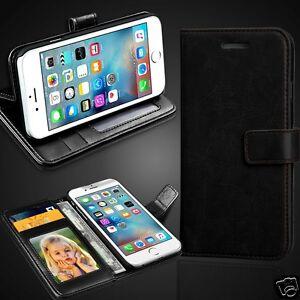 Black-Rich-Luxury-Leather-Wallet-Flip-Case-Cover-For-Various-Smart-Phones-Models