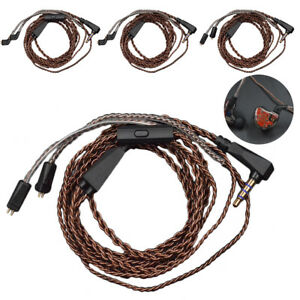 GX-FT-1-2m-0-75mm-Silver-Plated-Pin-Earphone-Cable-For-KZ-ZS6-ZST-ZSR-ZS10-Gra